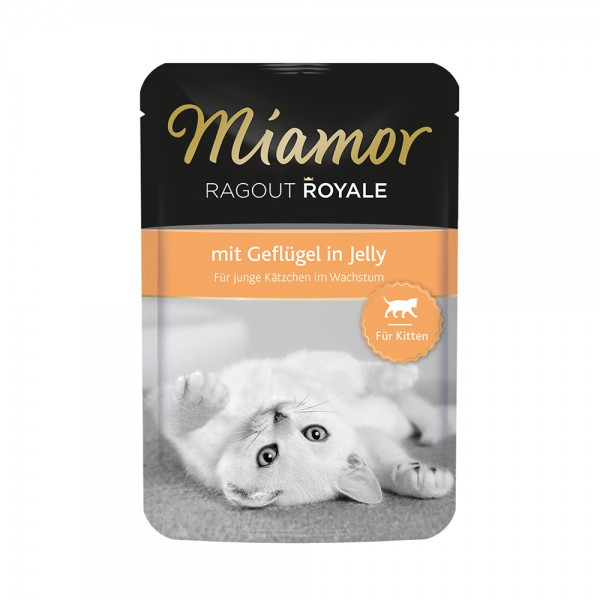 Miamor Ragout Royale in Jelly Kitten - mit Geflügel