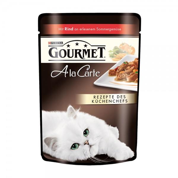 Gourmet A la Carte mit Rind an erlesenem Sommergemüse