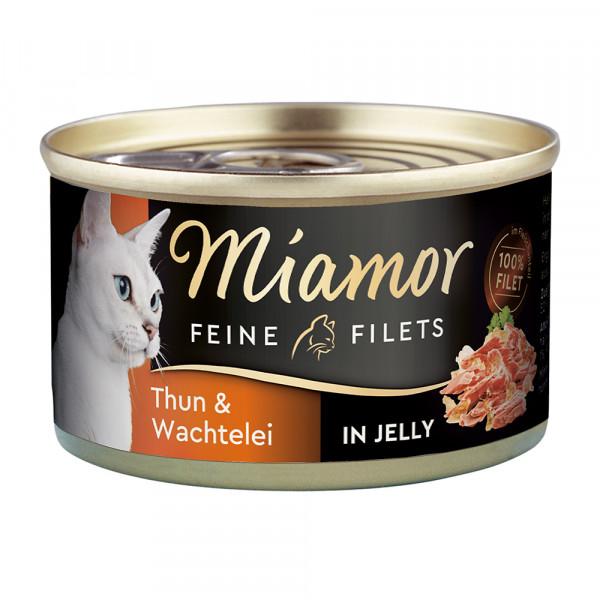 Miamor Feine Filets in Jelly Thunfisch & Wachtelei
