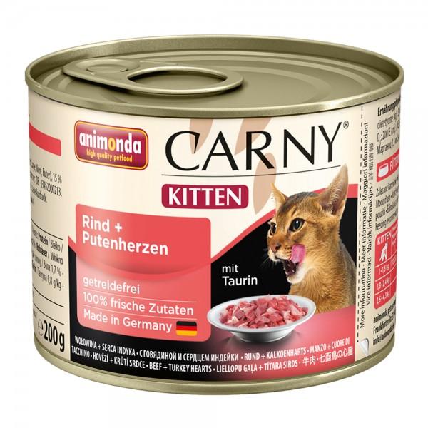 Animonda Carny Kitten Rind + Putenherzen