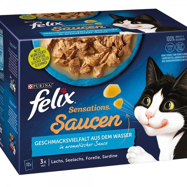 Felix Sensation Sauce Geschmacksvielfalt aus dem Wasser - Multipack