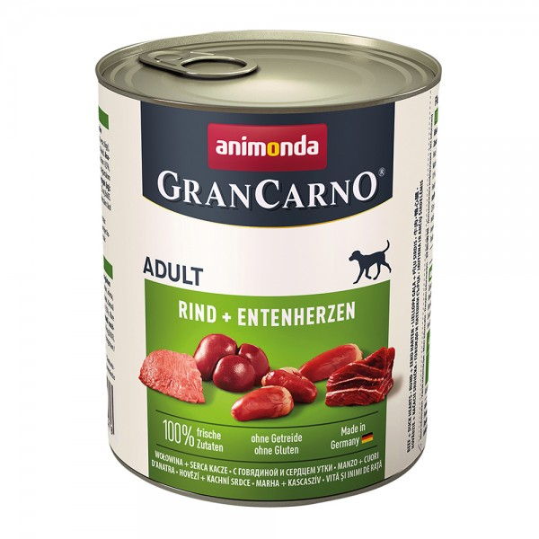 Animonda Gran Carno Original Adult mit Rind + Entenherzen