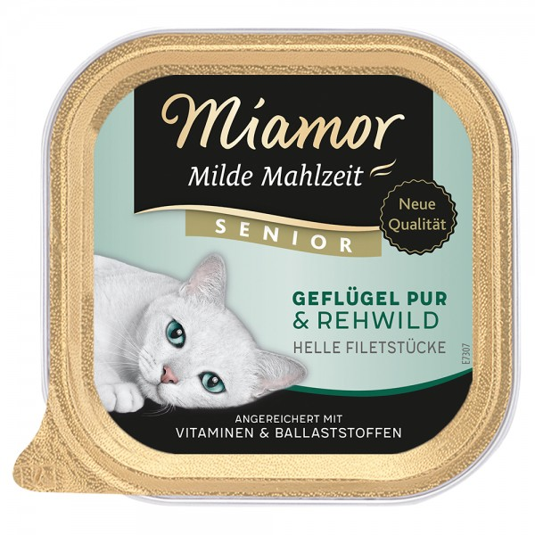 Miamor Milde Mahlzeit Senior Geflügel & Rehwild