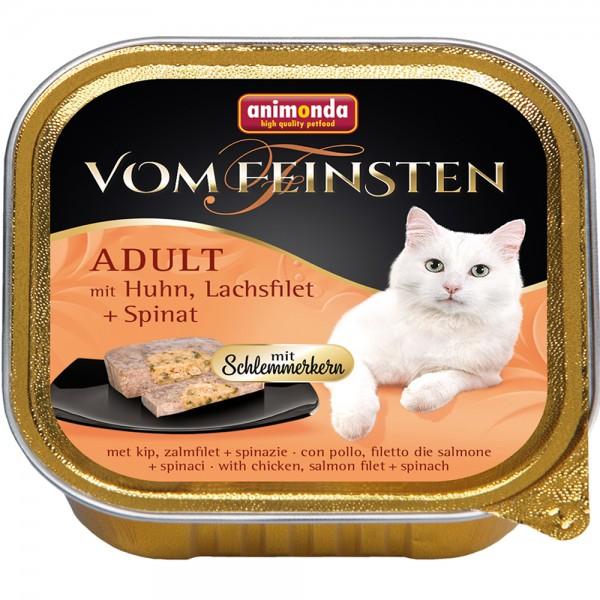 Animonda Vom Feinsten mit Huhn, Lachsfilet + Spinat