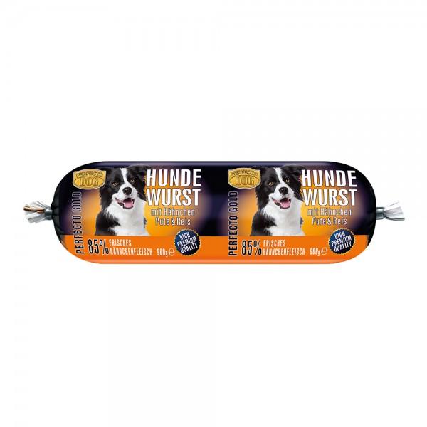 Perfecto Dog Hundewurst Hähnchen & Pute & Reis