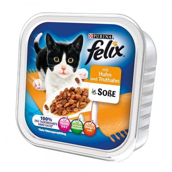 Felix Leckerbissen in Soße mit Huhn + Truthahn