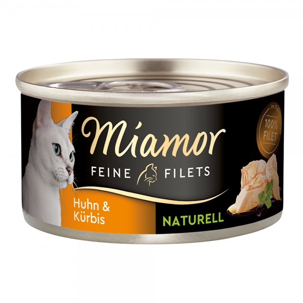 Miamor Feine Filets naturelle in Fleischsaft Huhn & Kürbis