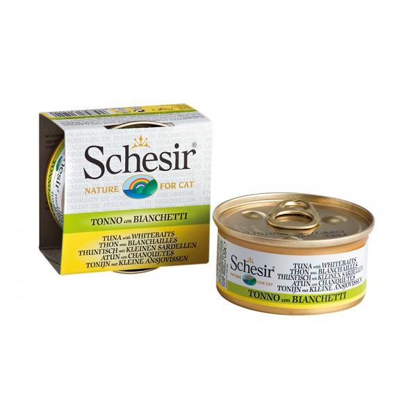 Schesir Cat Brühe Thunfisch mit kleinen Sardellen