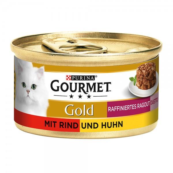 Gourmet Gold Raffiniertes Ragout Duetto mit Rind und Huhn