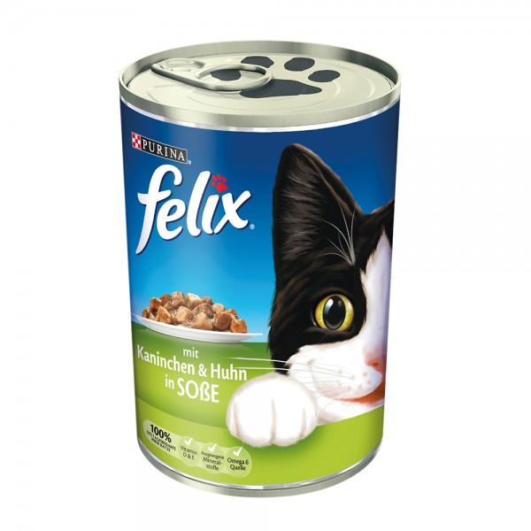 Felix Leckerbissen in Soße mit Kaninchen und Huhn