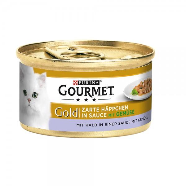 Gourmet Gold zarte Häppchen in Sauce mit Kalb&Gemüse