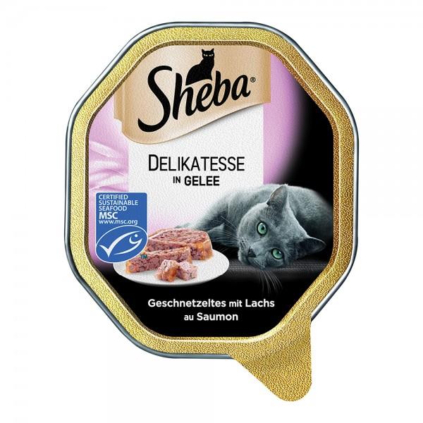 Sheba Delikatesse Gelee Lachs-Geschnetzeltes