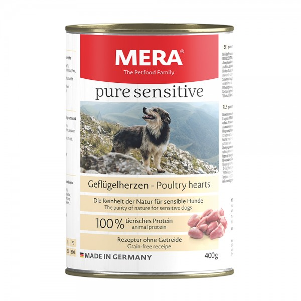 Mera Pure Sensitiv Geflügelherzen getreidefrei