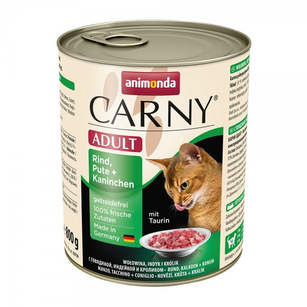 Animonda Carny Adult Rind, Pute + Kaninchen