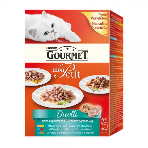 Gourmet Mon-Petit Duetti Fleisch & Fisch