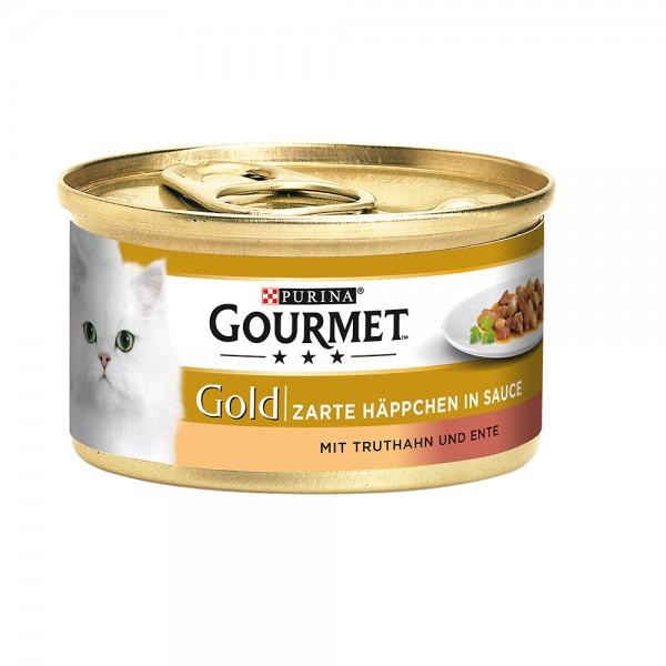 Gourmet Gold zarte Häppchen in Sauce mit Truthan&Ente