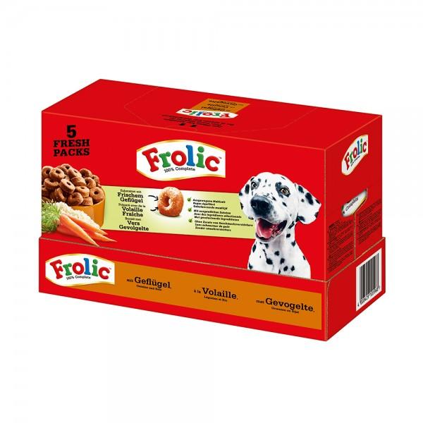 Frolic mit Geflügel, Gemüse und Reis