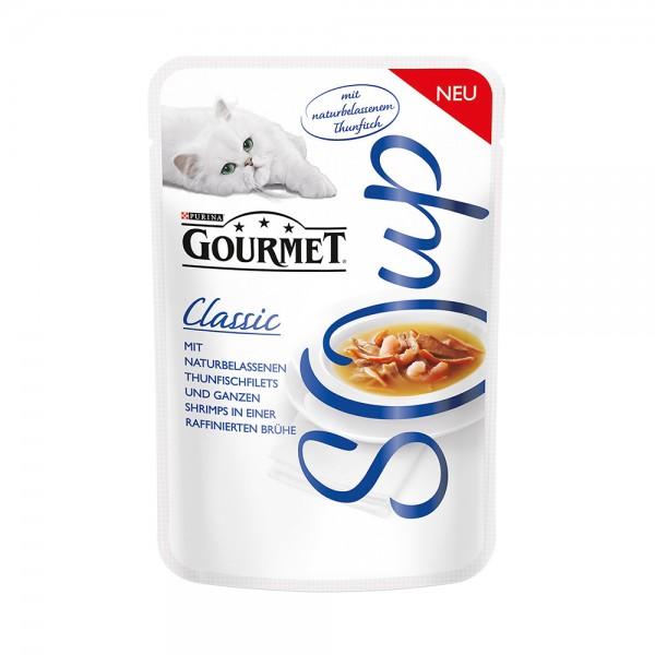 Gourmet Classic Soup mit Thunfisch & Shrimps