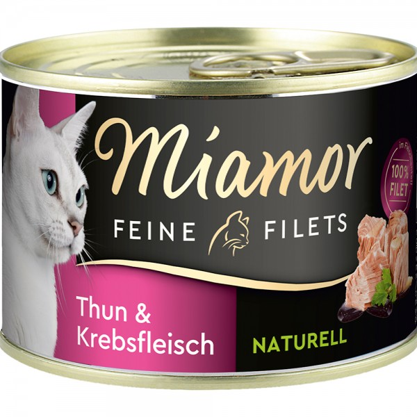 Miamor Feine Filets Natur Thunfisch & Krebsfleisch
