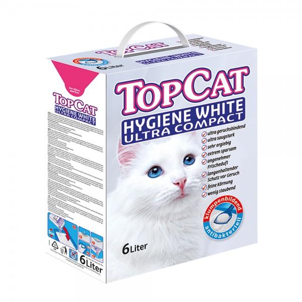TopCat Hygiene White Ultra Compact Katzenstreu in der Box