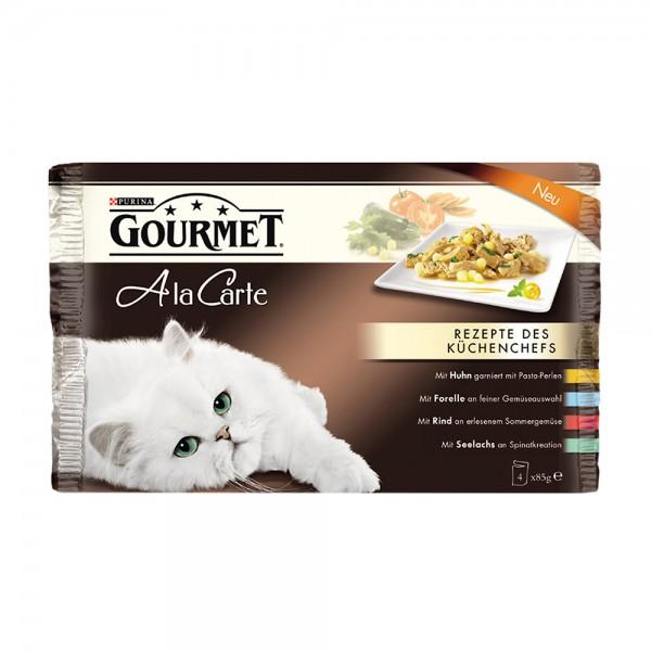 Gourmet A la carte 4er MP mit Rind, Huhn, Forell und Seelachs
