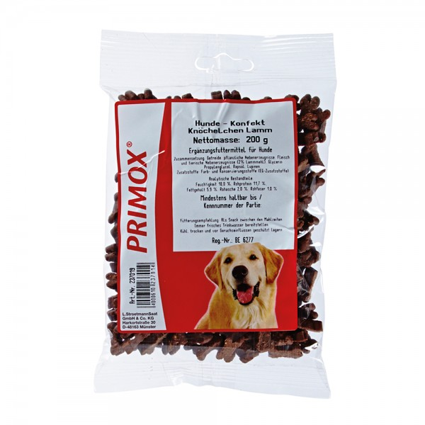 Primox Hundekonfekt Knöchelchen Lamm